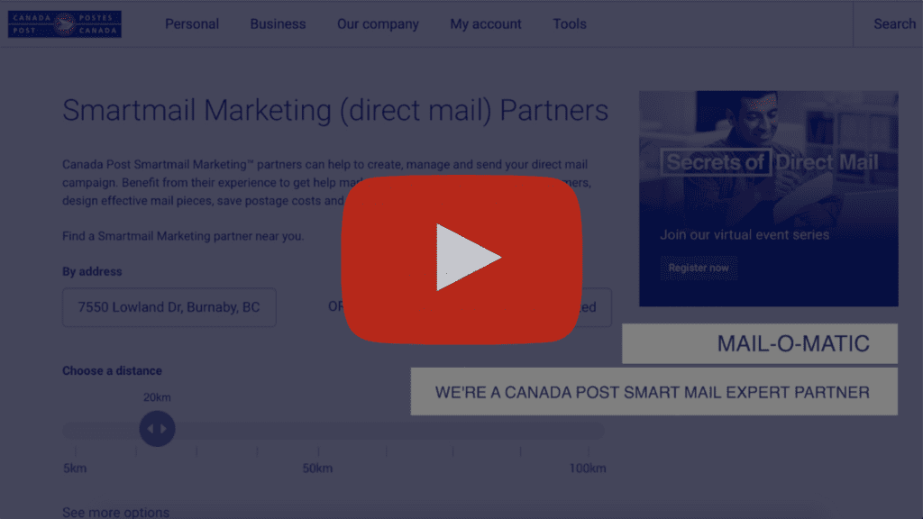 Mail-O-Matic - Helping You With Canada Post Postage Video